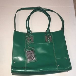 Wilsons Leather Emerald Green Tote/Purse